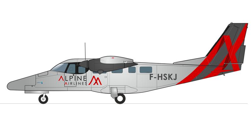 Flotte Alpine airlines Aviator TP600 Compagnie aérienne transport de passager et vol privé Courchevel Saint Tropez Paris Genève Zurich Megève Alpes