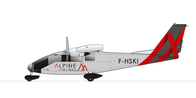 Flotte Alpine airlines P68 OTC Compagnie aérienne transport de passager et vol privé Courchevel Saint Tropez Paris Genève Zurich Megève Alpes