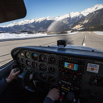 Landing on Glaciers Mountain Rating Alpine Airlines