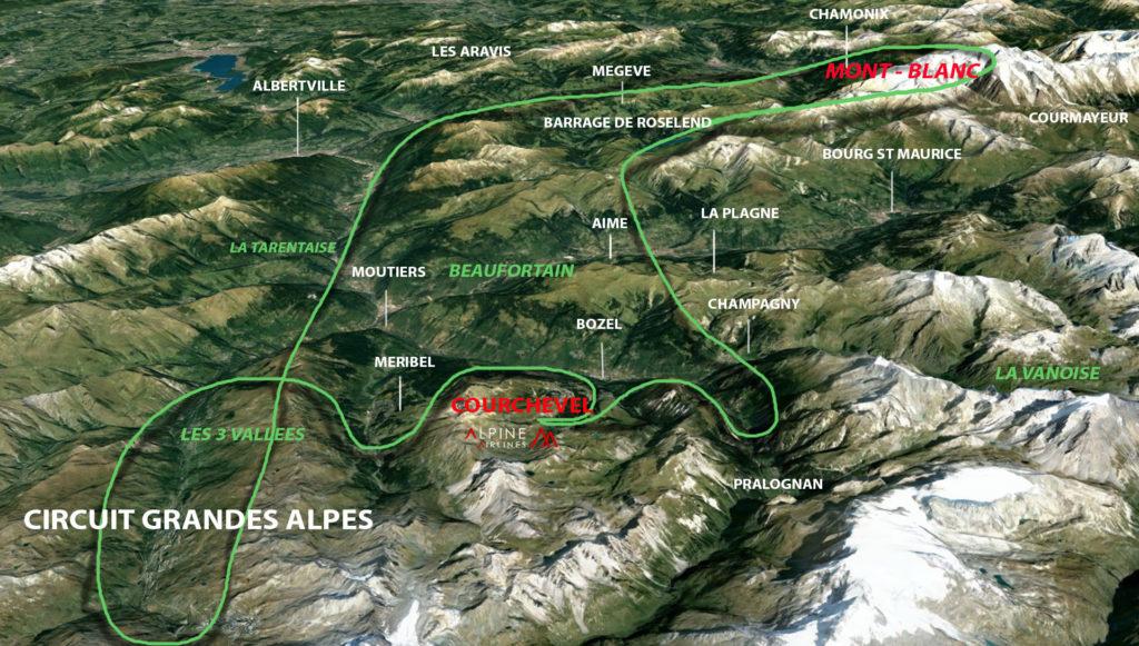 Circuit Grandes Alpes au départ de Courchevel