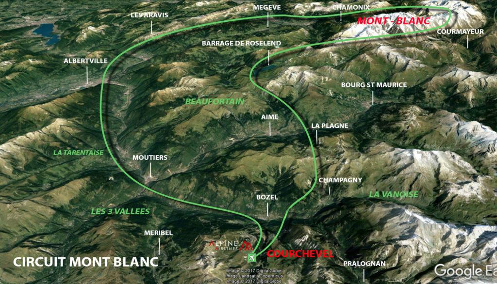 Circuit Mont Blanc au départ de Courchevel